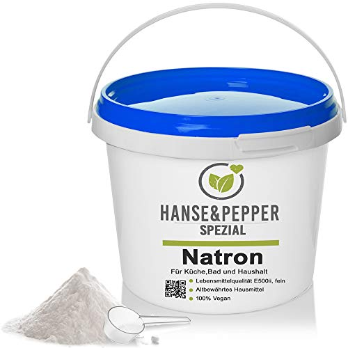 5kg Natron Pulver Premium-Qualität Ökologisch Backpulver E500 NaHCO3 - Plus Serie