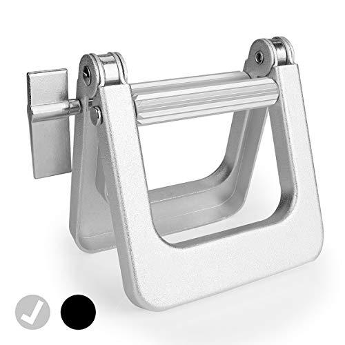 Thingles® Tubenquetscher – Tubenausdrücker zum Entleeren für alle Tube, Tubenpresse für Kunstoff- und Aluminiumtuben, Tubenentleerer (Silber)
