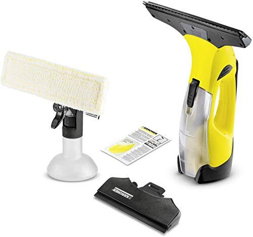 Kärcher Akku Fenstersauger WV 5 Plus N (Akkulaufzeit: 35 min, entnehmbarer Akku, 2 Absaugdüsen - schmal/breit, Sprühflasche mit Mikrofaserbezug,...