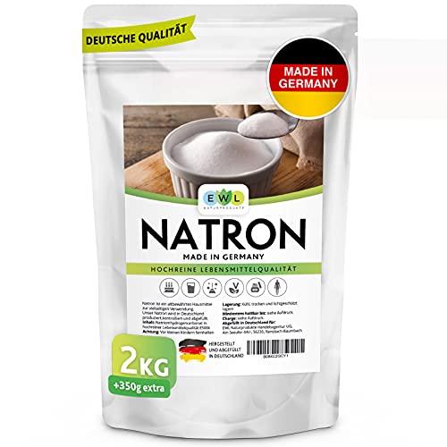 EWL Naturprodukte Natron Pulver Baking Soda 2350g extra XXL Vorteilspack Hochreine deutsche Lebensmittelqualität I Backpulver I Deutsche Herstellung u....