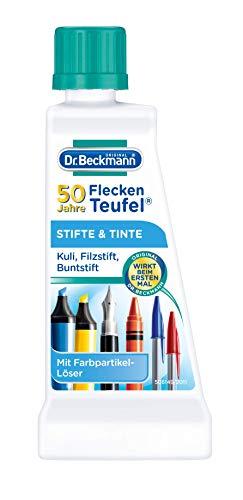 Dr. Beckmann Fleckenteufel Stifte & Tinte , Spezialfleckentferner gegen Kugelschreiber-Flecken, Tinten-Flecken (50 ml)