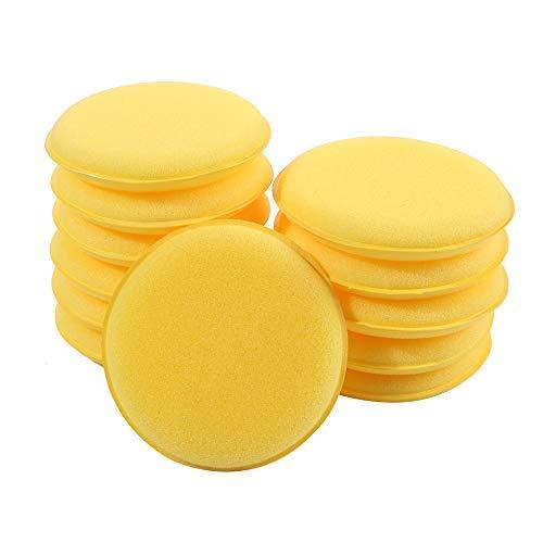 Beyond Dreams 4 Schwämme ø 7cm - Set Malschwamm aus Schaumstoff - gelb - zum Malen und Basteln - Schwämmchen für Farbe