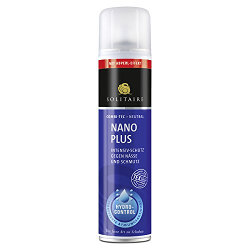 Solitaire Nano Plus Imprägnierspray 400ml Schutz gegen Nässe und Schmutz geeignet für alle Glatt- und Rauleder sowie Textilien