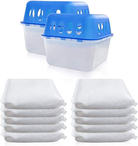 2 Boxen + 10 Granulat 400 Gramm Luftentfeuchter (2D+2E) Feuchtigkeits-Stopper mit Nachfüll-Beutel Granulat Nachfüllpack Vliesbeutel Raumentfeuchter