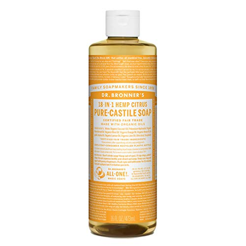 DR BRONNERS Liquid Soap Citrus, Flüssigseife Zitrus Orange 473 ml
