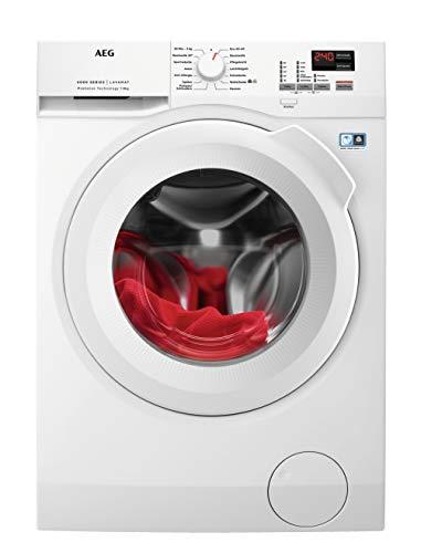 AEG L6FBA484 Waschmaschine Frontlader / Energieklasse E / Waschautomat mit Mengenautomatik / Schutz für edle Textilien dank ProTex Schontrommel (8 kg) / mit...