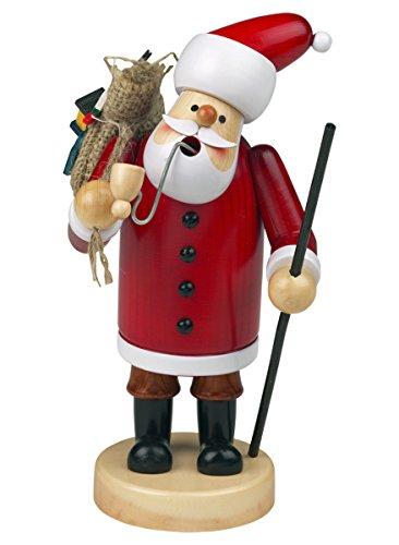 Räuchermännchen Räuchermann Räucherfigur Rauchfigur 'Weihnachtsmann' ca. 14 cm hoch, aus Holz, Weihnachten Advent Geschenk (30109-14)