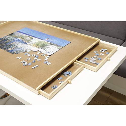 Haushalt International Puzzletisch 1000 Teile Puzzel Tisch 76x57cm Puzzel Board 4 Schubladen Puzzlebrett