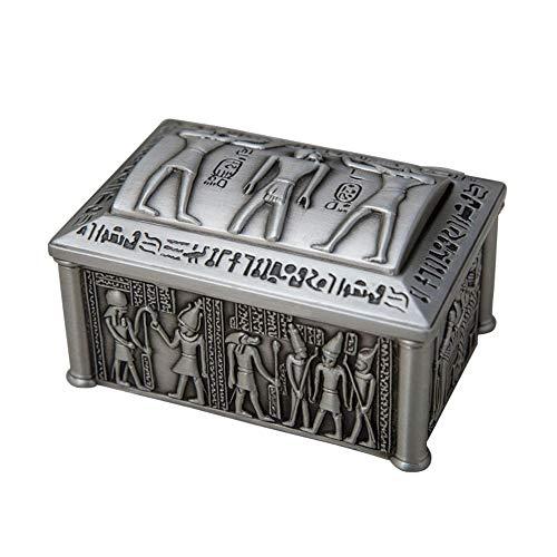 JWIL Boxen & Organizer Exquisite Metall Desktop Storage Box, im europäischen Stil ägyptischen Schmuck-Box, Haushalt Kleine Schmuck-Box Für Frauen (Color :...