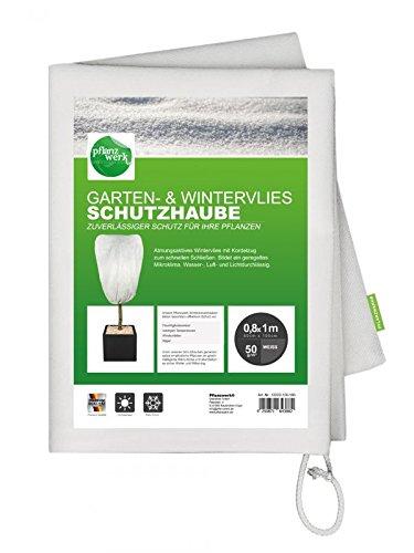 Pflanzwerk® Pflanzkübel Wintervlies Schutzhaube 80x100cm für Blumenkübel 2er-Set *Frostschutz* *UV-Schutz* *Qualitätsware