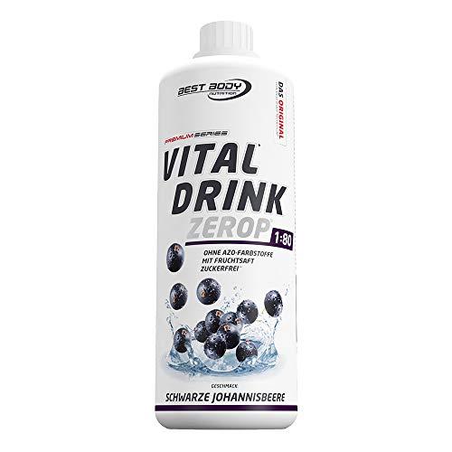 Best Body Nutrition Vital Drink ZEROP® - schwarze Johannisbeere, zuckerfreies Getränkekonzentrat, 1:80 ergibt 80 Liter Fertiggetränk, 1000 ml