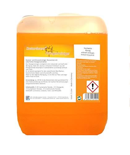 Mastercleaner Orangenreiniger Konzentrat mit nat. Orangenöl der hochwirksame und kraftvolle Allzweckreiniger 5 Liter Biologisch abbaubar