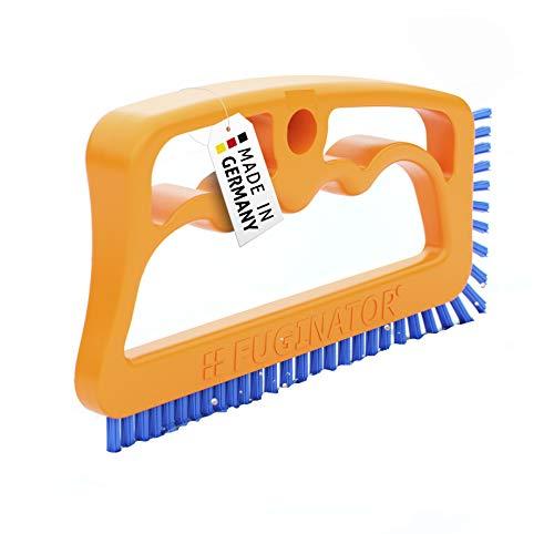 FUGINATOR® Fugenbürste orange/blau – Bürste zur Fugenreinigung in Bad, Küche und Haushalt mit EU-Patent
