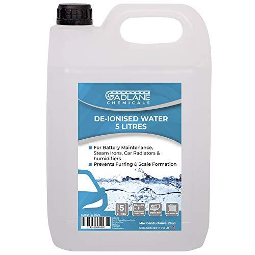 Hutchings GADLANE Destilliertes Wasser 5l Geeignet Für Autobatterie Autokühler Bügeleisen Wasserfontäne Demineralisiertes Wasser 5 Liter