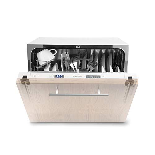 Klarstein Amazonia 6 Secret - Spülmaschine, Geschirrspüler, Einbau, vollintegriert, 174 kWh/Jahr, 55 cm breit, 6 Maßgedecke, 6 Programme, Aquastop