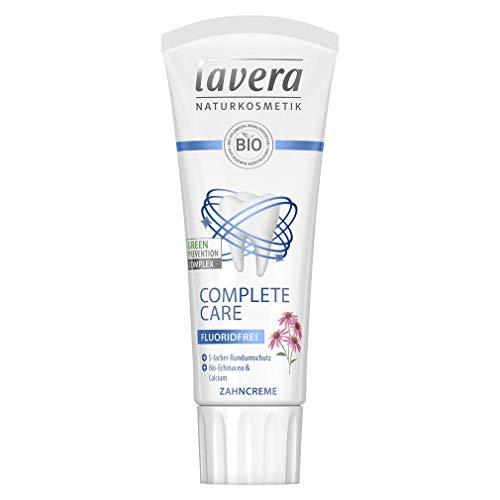 lavera Zahncreme Complete Care fluoridfrei Bio-Echinacea & Calcium ✔ Naturkosmetik ✔ vegan ✔ Bio Inhaltsstoffe ✔ Natürlich & Innovativ, 75 ml