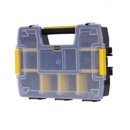 Stanley FatMax Werkzeug-Organizer Sortmaster / Aufbewahrungsbox (29x21x6.3cm, stapelbar mit Verriegelung, entnehmbare Einsätze, Aufbewahrung von...
