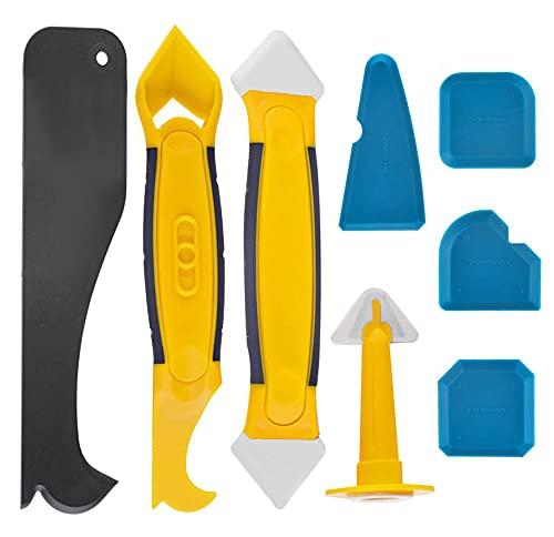 Silikonentferner, Silikon Fugenwerkzeug Set mit Dichtung Werkzeug/Dichtmittelelentferner/Caulk Düse, Silikon Fugenglätter Schaber Entferner Werkzeug für...