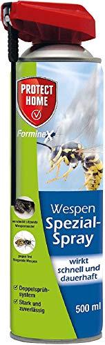 PROTECT HOME FormineX Wespen-Spezialspray für versteckt sitzende Wespennester mit K.O-Wirkung, 500 ml, Doppelsprühsystem