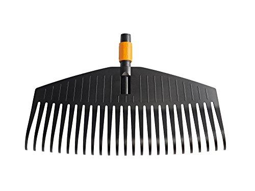 Fiskars Laubbesen, Werkzeugkopf, 25 Zinken, Breite: 50 cm, Kunststoff-Zinken, Schwarz/Orange, QuikFit, 1000642