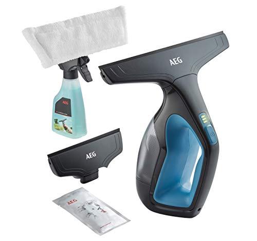AEG WX7-90B2B Fenstersauger / Zubehör + Abziehlippen aus Naturkautschuk / Sprühflasche / nur 60 db(A) / breite Saugdüse / 3 LED-Ladekontrollleuchte / 110 ml...