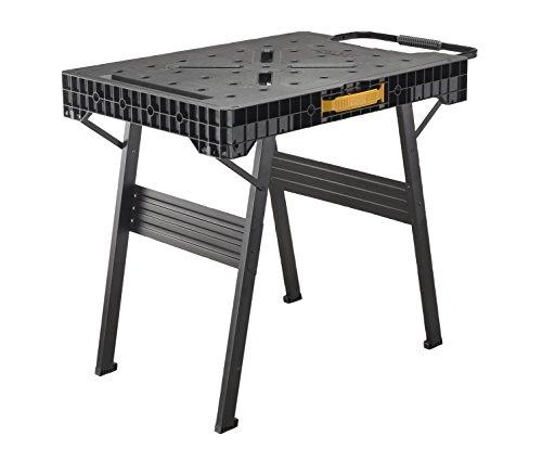 Stanley FatMax klappbare Werkbank (bis 455kg belastbar, mit Metallbeinen für höchste Stabilität, große Arbeitsfläche, mit praktischem Tragegriff, für...