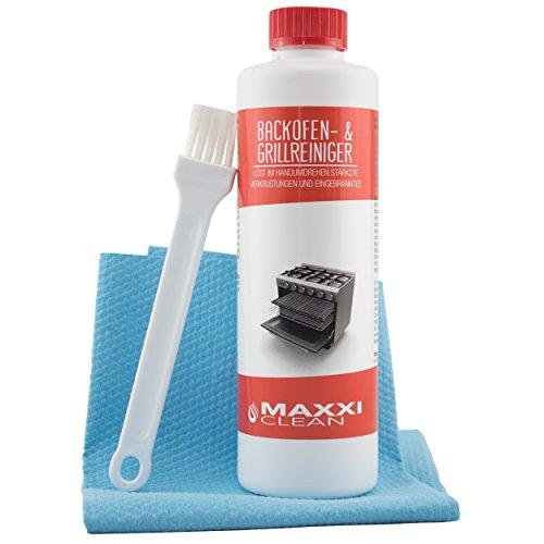 Maxxi Clean Backofenreiniger 500-ml Gel Paste inkl. Backofen- und Grillreiniger Pinsel | löst hartnäckigste Verkrustungen, reinigt selbsttätig - ohne...