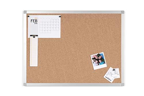 BoardsPlus Korktafel, 60 x 45 cm - Mit Aluminiumrahmen und Hochwertiger Naturkorkoberfläche, Pinnwand, Hergestellt in Europa