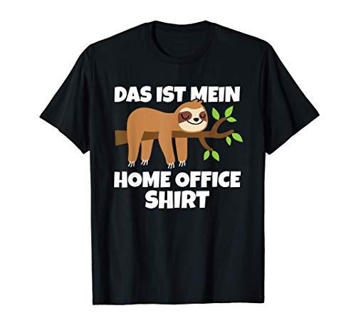 Geschenkidee Faultier Das Ist Mein Home Office T-Shirt