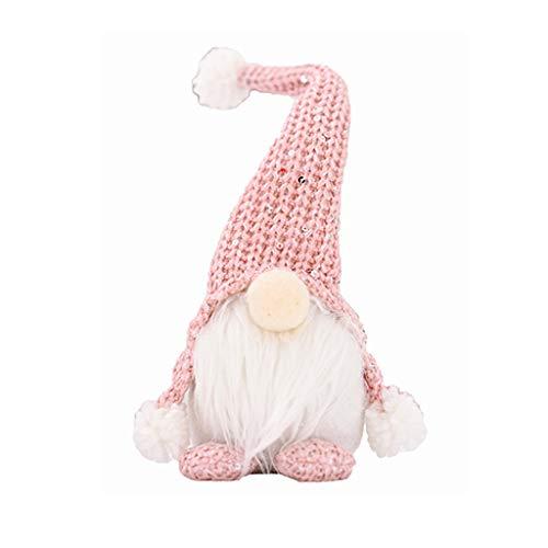 Sayla Weihnachten Puppe Weihnachten Deko Wichtel Handgemachte Wichtel Figuren Weihnachten Deko, Mini Santa Dolls Süße Plüschtier Sitzende Weihnachtswichtel...