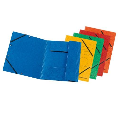 Herlitz 10902864 Einschlagmappe mit Gummi A4 10er farbig sortiert