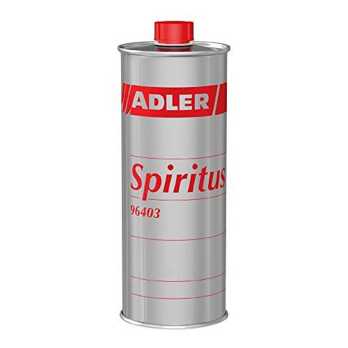 ADLER Spiritus - 1 L - Hochwertiger Spiritus Verdünnung, Reiniger und Brennstoff. Der Allrounder für Haushalt, Auto, Gewerbe und Industrie
