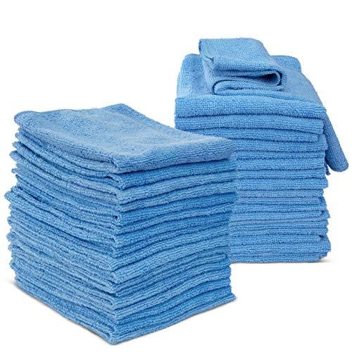 Masthome 36 Stück Mikrofaser Reinigungstücher Set mit Stark Saugfähigkeit und Reinigungsfähigkeit 35x35cm Mikrofasertücher auch Putztuch für Haushalt...