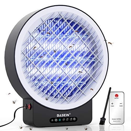 BASEIN UV Insektenvernichter, Elektrisch Mückenfalle Moskito Killer Lampe, Bug Zapper mit Timing und Fernsteuerungs gegen Mücken, Fliegen, Moskitos für...