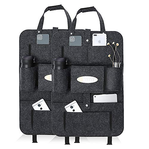 Rückenlehnenschutz Auto kinder Luchild 2st Auto Organizer Filz, Autositzschoner rücksitztasche mit iPad/Tablet-Tasche, Kick-Matten-Schutz für Autositz...