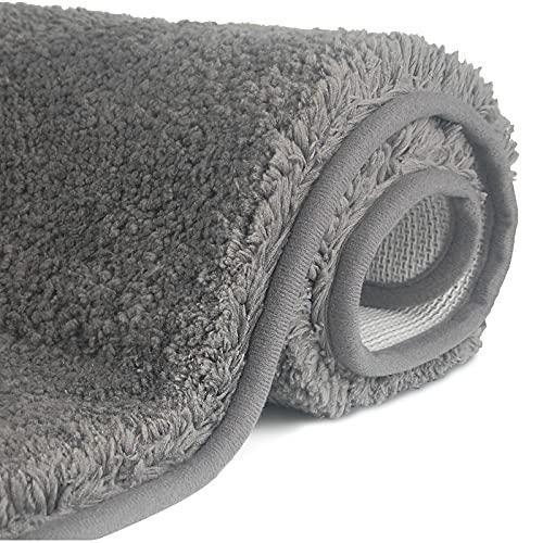 FCSDETAIL rutschfeste, Hochflor Badteppiche 50 x 80 cm, Maschinenwaschbare Badematte, Badvorleger mit Wasserabsorbierenden, Weichen Mikrofasern für Badewanne,...