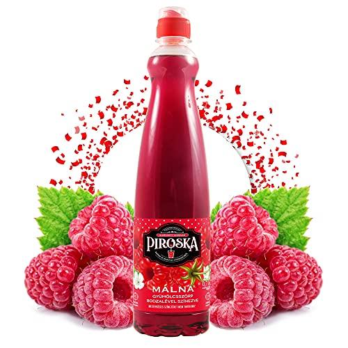 Piroska Sirup Himbeere Geschmack 700ml | Getränkesirup | Frucht-sirup Konzentrat funktioniert mit allen Wassersprudler