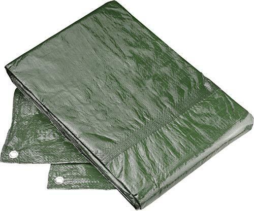 Connex Schutzplane 3 x 4 m - 80 g/m² - Beidseitig beschichtet - Wasserabweisend & UV-stabilisiert - Schimmelresistent - Aus Polyethylen / Gewebeplane /...