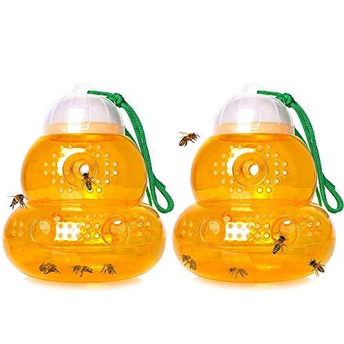 Wespenfalle Fliegenfalle Bienenfänger Bienenfalle Hängende Wespenfalle Fliegenfalle Wespenabwehr Für Freien Garten Hängende Falle Zum Anlocken Von Wespen...