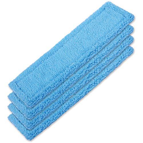 KEEPOW 4 Stück Mikrofaser-Wischbezug Kärcher Fensterreiniger Tuch Akku Fenstersauger WV 2 Premium (Plus), WV 5 Premium (Plus) Mikrofaser-Wischbezug Blau...