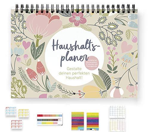 weekview Haushaltsplaner | PLUS | undatiert | mit Wochenaufkleber, Griffregister, 366 Sticker und Tafelkalender