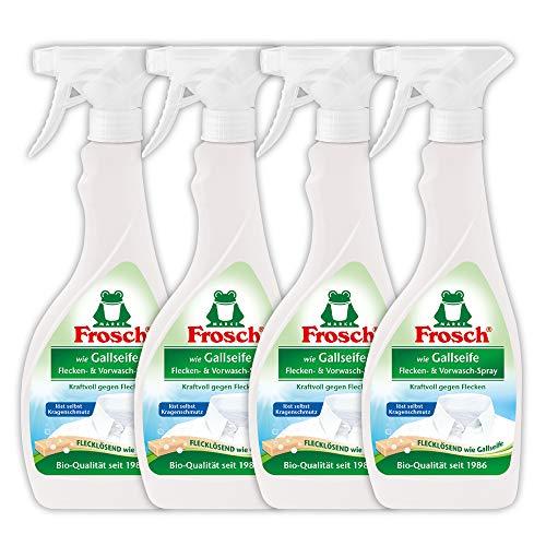 Frosch wie Gallseife Flecken- und Vorwasch-Spray , Fleckentferner zur Vorbehandlung, 500 ml, 4er Pack (4 x 500 ml)