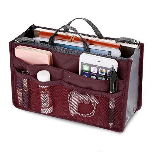 Handtasche Organizer Multifunktions Handtaschenordner Trading Tasche Kosmetik Doppel-Reißverschluss Multifunktions Tasche Hopper Ordnung Reise Make Up Koffer...