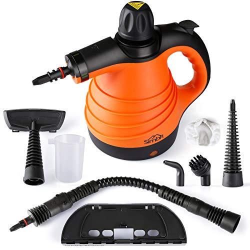 SIMBR Dampfreiniger, Hochdruckreiniger, tragbar Handdampfreiniger,Dampfsauger mit 350ml Tank, 9 Zubehör für Küche, Bad, Auto, Fenster, Matratze, Vorhänge,...