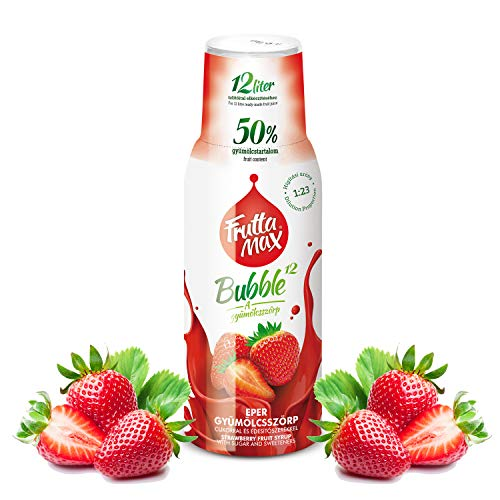Frutta Max Getränkesirup Frucht-sirup Konzentrat   Sorten zur Wahl   weniger Zucker   mit 50% Fruchtanteil   für Soda Maschine geeignet 500ml (Erdbeere)