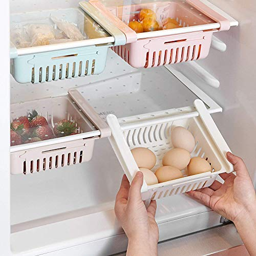 HapiLeap kühlschrank Schubladen, Einstellbare Lagerregal Kühlschrank Partition Layer Organizer, Ausziehbare Kühlschrank Schublade Organizer Kühlschrank...