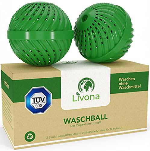 2 x Original Livona® Waschball [TÜV-GEPRÜFT] - Öko Waschkugel - Waschen ohne Waschmittel - nachhaltig & umweltfreundlich - Vorteilspack - hohe Qualität...