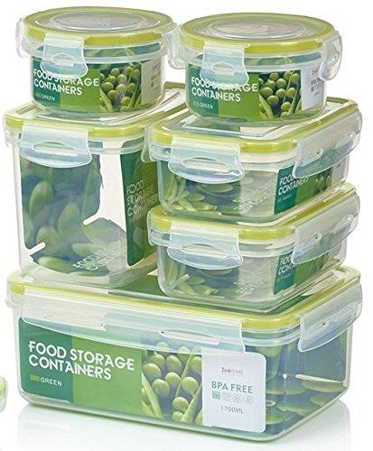 Zoë&Mii auslaufsichere Lebensmittelbehälter aus BPA-freiem Plastik - Hochwertige und luftdichte Meal Prep Boxen - 14-Teiliges Set (7 Boxen + 7 Deckel) als...