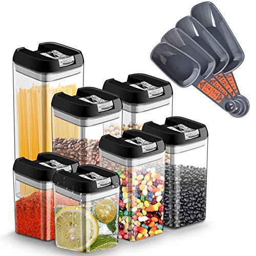 7er Vorratsdosen Lebensmittelbehälter mit Deckel Set Transparente Aufbewahrungsbehälter luftdicht BPA-frei, für Vorratsbehälter für Lebensmittel...