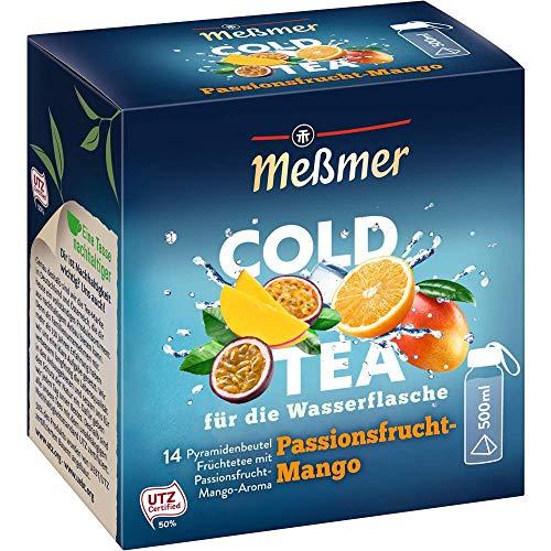Meßmer Cold Tea Passionsfrucht-Mango,Belebe dein Wasser mit dem spritzigen Geschmack,ohne Zucker,ohne Kalorien Alternative zu zuckerhaltigen Getränken wie...